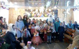 Выступление воскресной школы на праздник св.Николая на Лесном кладбище