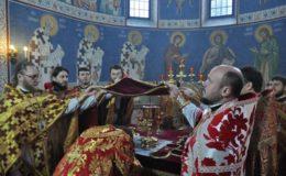 Престольный праздник в Екатерининском храме на Лукьяновском кладбище