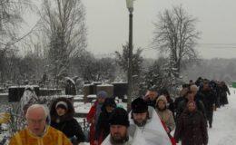 Праздник Богоявления на Лесном кладбище