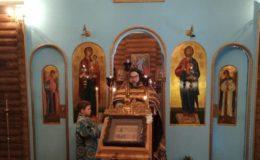 Божественная Литургия в храме в честь иконы Божьей Матери «Всех скорбящих Радость»