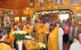 Храмовый праздник в день Всех Святых на Лесном кладбище