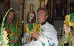 Юбилейная служба в храме Cвятой Блаженной Ксении Петербургской на Святошинском кладбище
