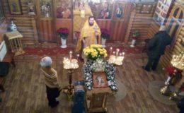 Новогодняя Литургия в храме «Всех Святых» на Лесном кладбище