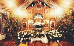 Рождественское богослужение на Лесном кладбище