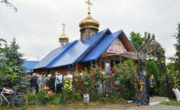 В Неделю Всех святых архиепископ Феодосий возглавил престольный праздник во Всехсвятском храме на Лесном кладбище